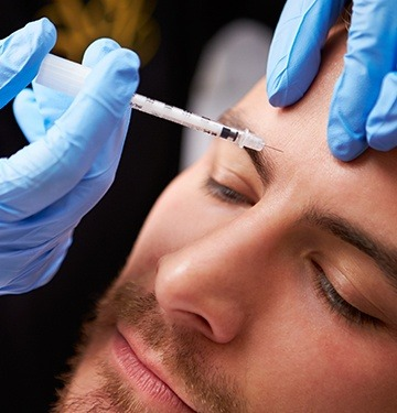 Patient receiving Botox injection
