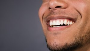 a man with healthy gums